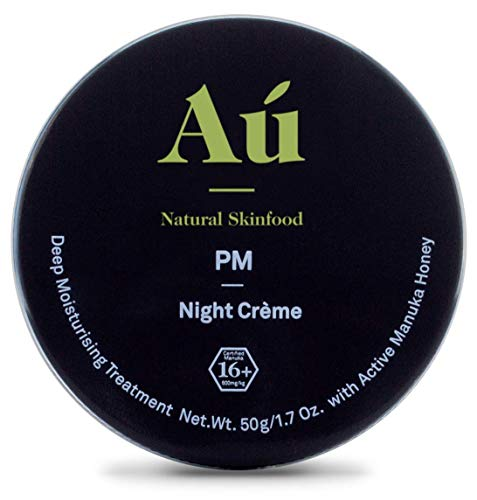 PM Night Cr me by Au Natural Skinfood Deep Moisturizing Cream with 16 Manuka Honey Bee Venom Certified Food For Your Skin All Skin Types 1.7 oz
