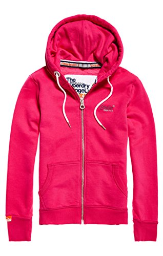 Hot Rosa Mme Superdry Pink Donna Labelprimaryziphood Felpa PqW1wSI7