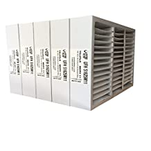 """16x25x5 HONEYWELL Replacement (Actual size 15-7/8"""" x 24-3/4"""" x 4-3/8"""") MERV 11 Pleated Furnace Air Filter, 5 Pack"""