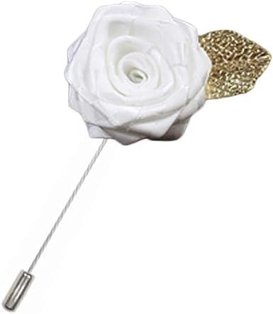 Rosa flor solapa Pin hombres traje broche moda regalo, A08: Amazon ...