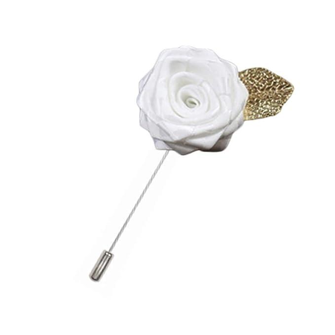 Rosa flor solapa Pin hombres traje broche moda regalo, A08 ...