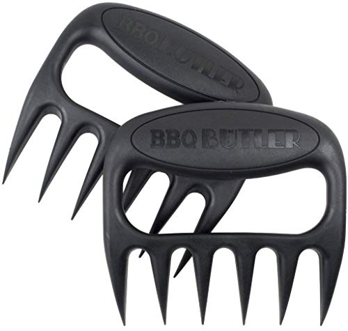 BBQ Butler Meat Shredder Claws - Easily & Safely Pull Pork & Chicken - Sharp Meat Shredder Claws - Melt-Proof & Dishwasher Safe - Made in the USA