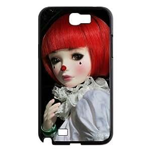 Diy Fashion Clown Phone Case for samsung galaxy note 2 Black Shell Phone JFLIFE(TM) [Pattern-1]
