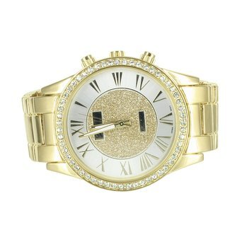 amazon com r numeral dial gold tone watch mens lab diamond r numeral dial gold tone watch mens lab diamond bezel elegant part wear