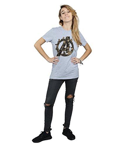 Grigio War Donna Logo Infinity Avventura T Shirt Ragazzo Sportiva 1wqTS1OB