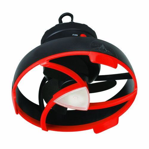 Basecamp by Mr. Heater Tent Fan with LED Light (Black/Red)
