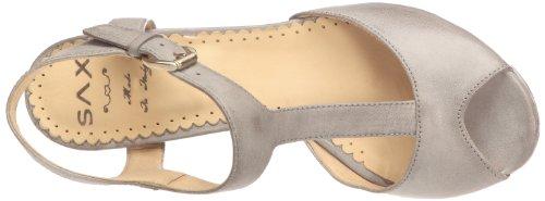 Sax 24403 - Sandalias de Vestir de cuero Mujer gris - Gris (Talco grey)