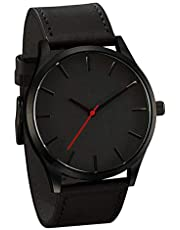Big Dial Men Watch Simple Business Belt Quartz Watch Male