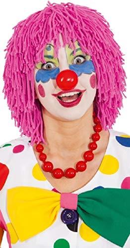 Adults Men's Ladies Clown Mop Red Blue Pink