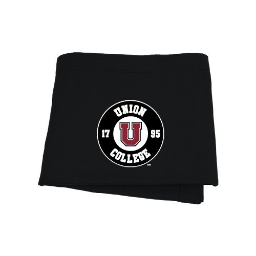 Union College Black Sweatshirt Blanket 'Official Logo'
