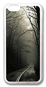 iphone 6 4.7inch Case and Cover Dark Road Forest TPU Silicone Rubber Case Cover for iphone 6 4.7inch Transparent