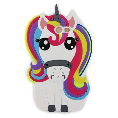 Samsung J7 2017 Case,Awin 3D Cute Cartoon Rainbow Unicorn Horse Animal Soft Silicone Rubber Case for Samsung Galaxy J7 2017 /J7 Perx / J7 Sky Pro / J7 V/Halo/J7 Prime 2017(Rainbow Unicorn)