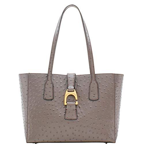 (Dooney & Bourke Shannon Tote Bag (Pewter Ostrich))