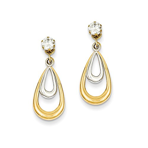14K Two Tone Polished With...