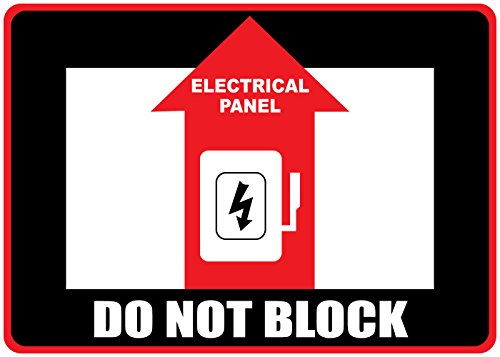 Do Not Block Black Red Anti-Slip Floor Sticker Decal 17 in longest side