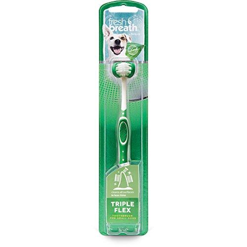TropiClean Fresh Breath Triple Flex Toothbrush for Small Dogs ()
