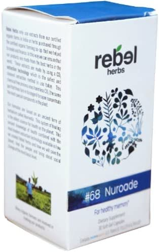 Rebel Herbs RH1068 68 Nuroade for Healthy Memory, 30 Capsules