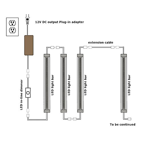 Under Cabinet LED Lighting Kit Hardwired Plug In,6 Pcs 12
