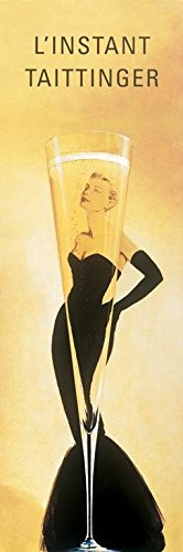 Buyartforless L 'Instant Taittinger (Grace Kelly Champagne Ad) 36x12 Champagne Art Print Poster Wall Decor Sexy Retro Vintage Advertisement