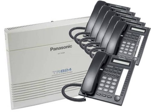 KX-TA824 System, and (6) KX-T7730 Phones Black by Panasonic
