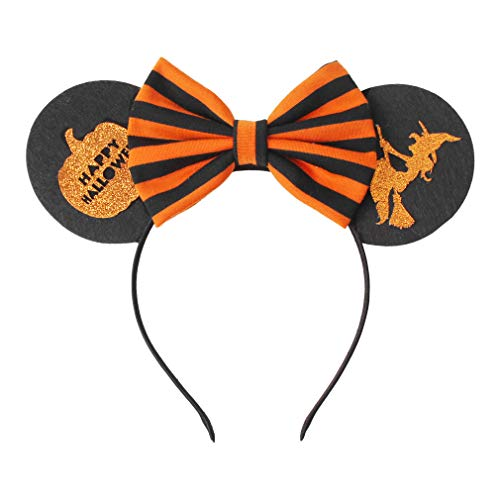 YanJie Halloween Sequin Mouse Ears - Glitter Hair Accessories Party Favor Decoration Cosplay Costume for Children & Adults (Witch)