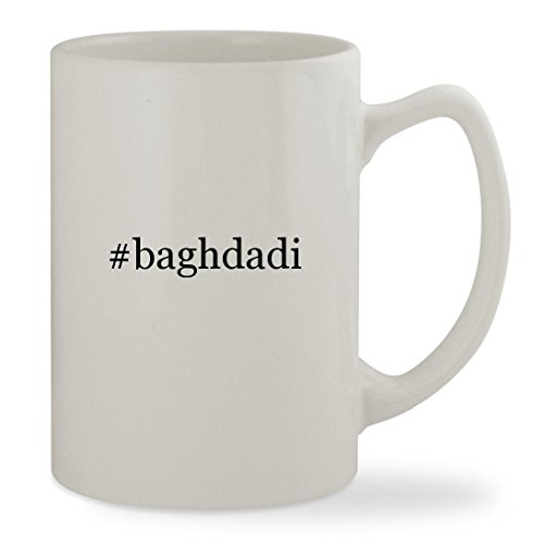 #baghdadi - 14oz Hashtag White Statesman Sturdy Ceramic Coffee Cup Mug