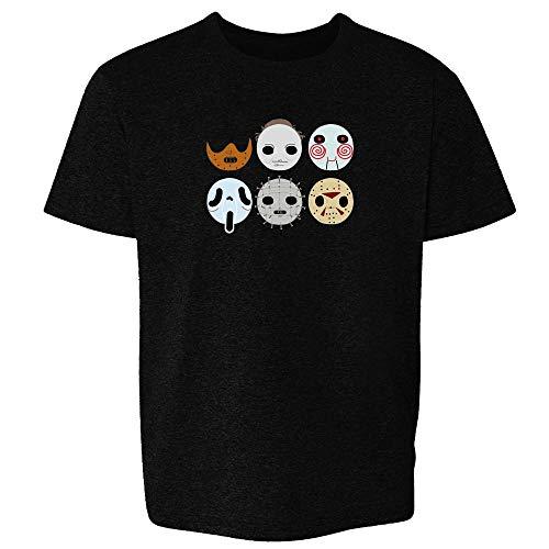 Horror Masks Halloween Costume Monster Black M Youth Kids T-Shirt -
