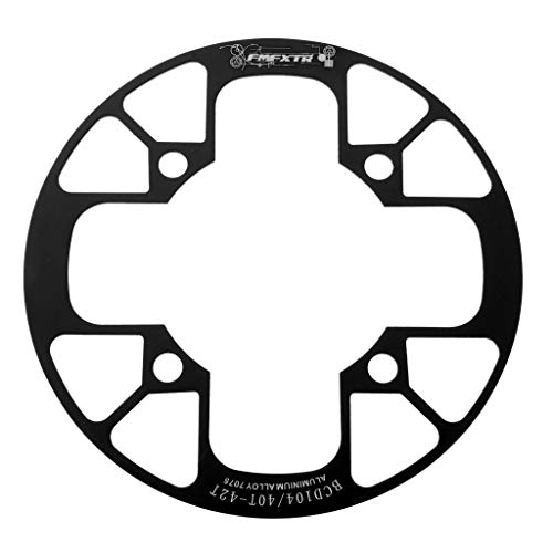 - SM SunniMix Bicycle Chainring Narrow Wide Chain Ring Sprockets Cranksets Guard Protector 104mm BCD, Bike Chainstay Protector - Black, 40-42T