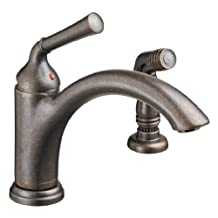 American Standard 4285.001.224 Portsmouth Single Lever Kitchen Faucet with Side Spray, Oil Rubbed Bronze