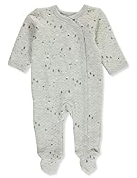 Sterling Baby Baby Boys' Quilted Tree Line Footed Coverall
