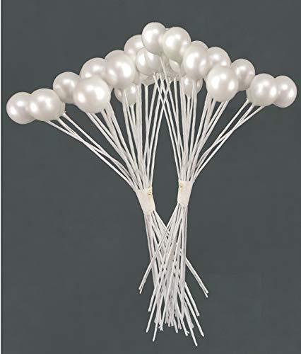 Decorazioni Natalizie TOYLAND 36 Bacca di Perla su Filo Decorazioni per Matrimoni Composizioni Floreali