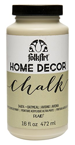 FolkArt 34874 Home Decor Chalk Furniture & Craft Paint in Assorted Colors, 16 ounce, Oatmeal
