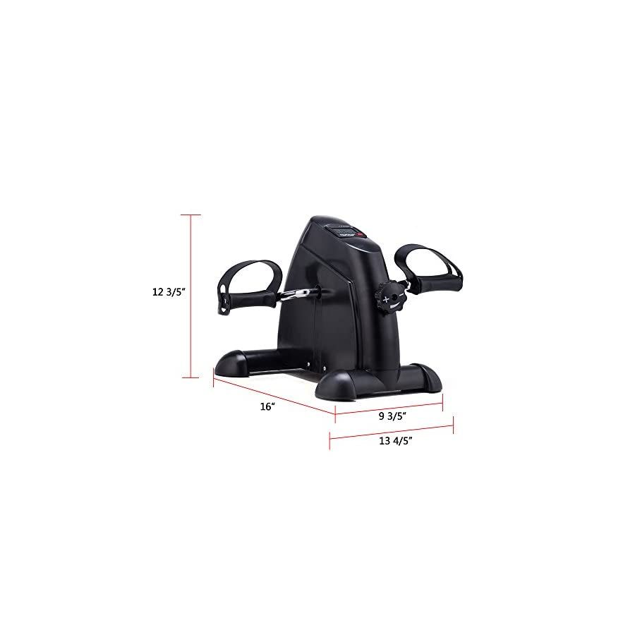 Pinty Mini Exercise Bike Pedal Exerciser Portable Cycle Lightweight Two Pedals Legs Arms Exerciser
