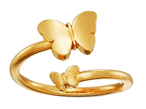 Alex and Ani Women's Ring Wrap Butterfly Rafaelian Gold adjustable