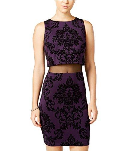 Bee Darlin B. Darlin Womens Velvet Bodycon Dress eggplantblk 13 – Juniors