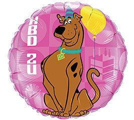 Party 18 Inch Scooby Doo HBD2U Birthday Mylar Balloon