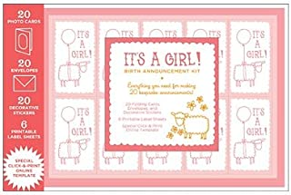 product image for Magic Cabin Chronicle Books Birth Announcement Kit, for Girls