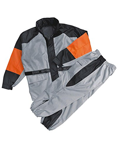 NexGen Men's Rain Suit (Black/Silver, X-Large)