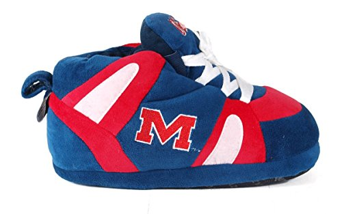 Womens NCAA Rebels Happy OFFICIALLY Feet LICENSED Mississippi Slippers Sneaker Men's College and TYTZtx4wq
