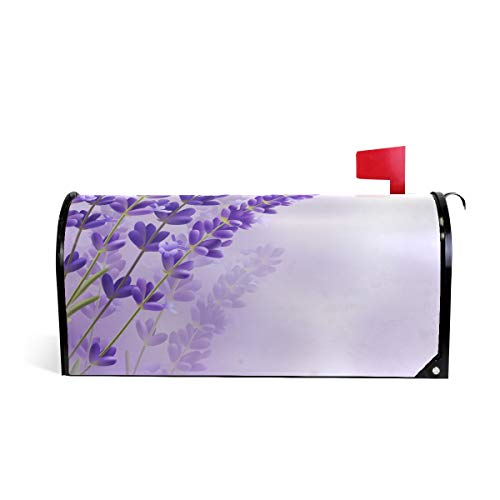 Lavender Branches Print Mailbox Covers Magnetic Standard Size Mail Boxes Makeover Mail Wraps Cover Letter Post Box
