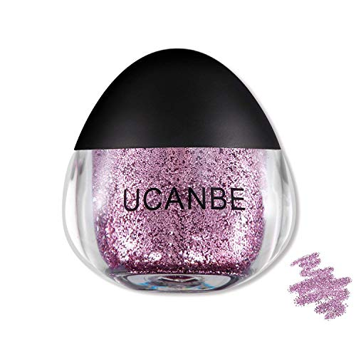 UCANBE Cream Glitter Gel for Body and Face, 0.63 fl. Oz (Lilac)