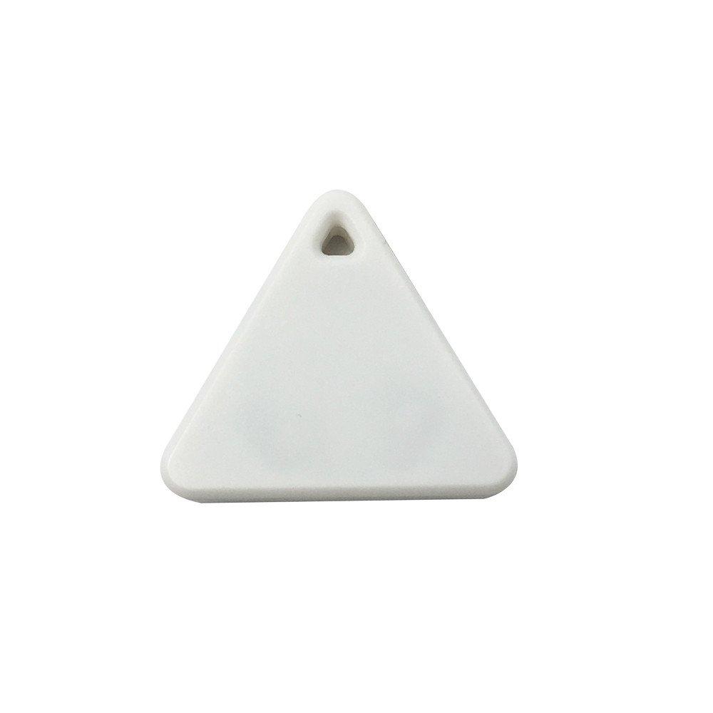 Tpingfe Bluetooth Smart Mini Tag Tracker, Pet Child Wallet Key Finder GPS Locator Alarm (White)