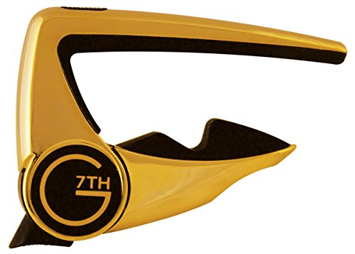 G7th G7C-P2GLD Performance 2 Guitar Capo, Gold (Gold Capo)