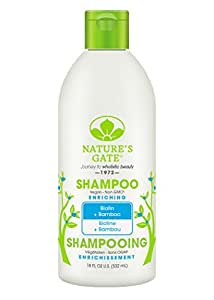 Nature's Gate Shampoo Biotin Strengthening Shampoo for Weak, Fragile and Thinning Hair, 18 Ounce (Pack of 3)