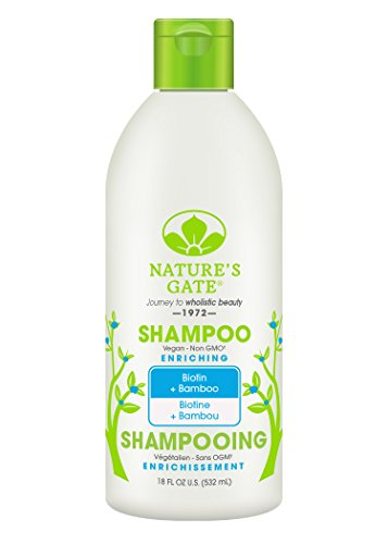 Nature's Gate Natural Biotin and Bamboo Daily Shampoo, Pro Vitamin B5, Jojoba Oil for Fragile, Thinning Hair, Vegan, Non GMO, Gluten Free, Soy Free, Paraben Free, Cruelty Free, 18 Ounce (Pack of 3)
