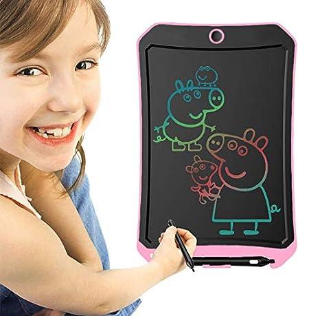 Rosa Bianco D BIBOYELF 8.5 Inch Bordoschermo Elettronico Doodle Board,Tavolo da Disegno Per Bambini-Best Regali Per Bambini/&Adulti