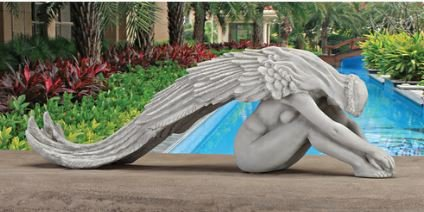 Cheap Angel of Love and Protection Statue Sculpture