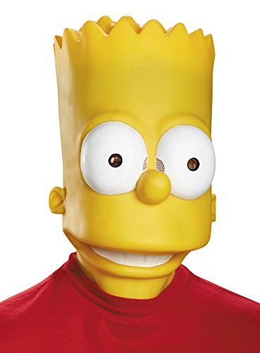 UHC Men's Bart Simpson Funny Cosplay Party Vinyl Halloween Costume (The Simpsons Adult Bart Mask)