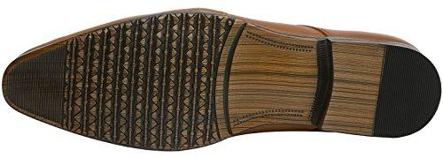 J75 by JUMP Men's AARON Narrow Plain Toe Dress Casual Oxford Tan tKSXOLC2