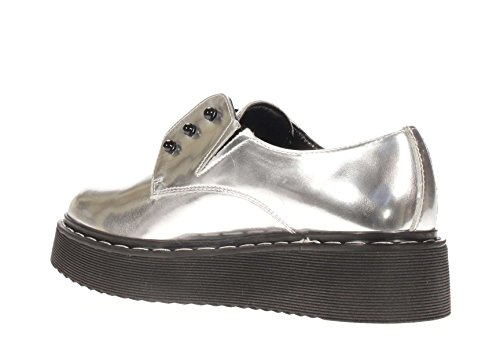 Cult Mujer Slip On cle102722 Slip On Eagle low 1244 plateado